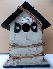 """Rustic """"Home Sweet Home"""" Wooden Hand Made Birdhouse - NEW!!"""