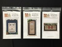 Lot of 2 Little House Needleworks Cross Stitch Pattern Charts Sampler Americana