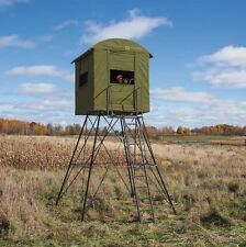 Deer Stand w/ Blind Hunting 10' Tower Tree Big Game Ladder Shooting Hunter New