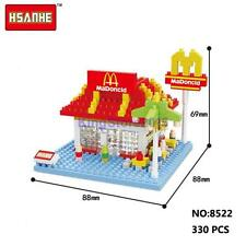 HSANHE Mini Street McDonald's Restaurant Store Nano Diamond Building Block Toy