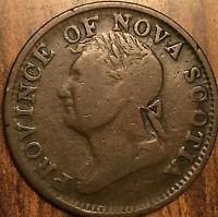 1832 NOVA SCOTIA HALF PENNY TOKEN - Rare imitation