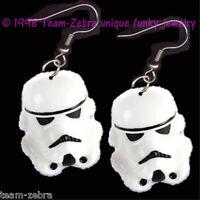 HUGE Funky Star Wars STORMTROOPER EARRINGS Sci-Fi Movie Charms Costume Jewelry