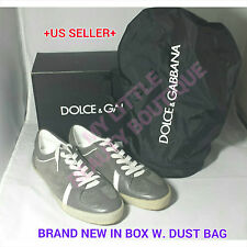 DOLCE & GABBANA MEN'S LEATHER SUEDE SNEAKERS SHOES BNIB SPORT SHOES SZ.8