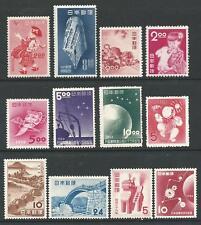 JAPAN - assortment of 12 better issues 1948-1953
