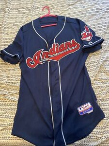 Cleveland Indians Manager Manny Acta Jersey 2010 MLB Majestic Size 46