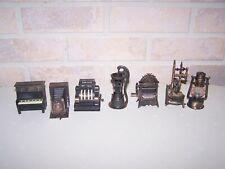 Vintage Lot of 7 Metal Miniatures Die Cast Pencil Sharpeners