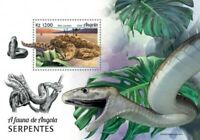 Angola - 2018 Snakes on Stamps - Stamp Souvenir Sheet - ANG18128b