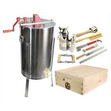 2 Bee Hive Frame Honey Extractor & 1 Complete Super Box With Plastic Foundation