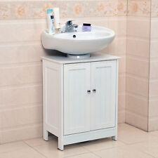 Undersink Bathroom Cabinet Cupboard Vanity Unit Under Sink Basin Storage Wood  N