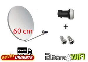ANTENA PARABOLICA 60 CM + LNB + CONECTORES F  ENVÍO RÁPIDO