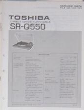 Toshiba SR-Q550 plateau service repair workshop manual (original)