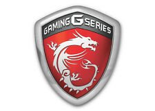 MSI Gaming G Series Shield 1x0.85 Chrome Domed Case Badge / Sticker Logo