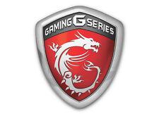 MSI Gaming G Series Shield 1x0.85 Chrome Domed Case Badge / Sticker Logo