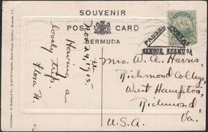 BERMUDA, 1915. Censor black, Post Card 41, Hamilton - Richmond, VA