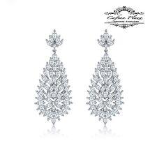 Pendientes Lujo DE CIRCONITA AAA Candelabro XXL STELLUX™ cristal blanco