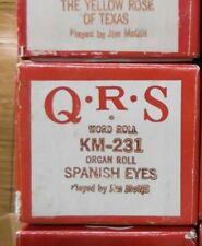 Qrs Kimball Electramatic Player Organ Roll Spanish Eyes Nos Rare Read