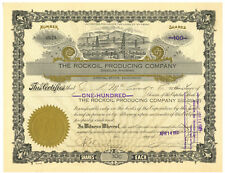 Rockoil Producing Company. Stock Certificate. Douglas, Wyoming