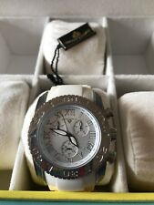 Men's Swiss Legend The Commander Collection White Watch SL-30011-22 NWT