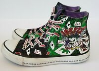 "Converse Chuck Taylor All Star DC comics ""Joker"" Hahaha high tops Mens 6 Wmns 8"