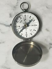 Vintage Chrome Glass Metal Compass w/ Direction Locking Made Germany by Hunter
