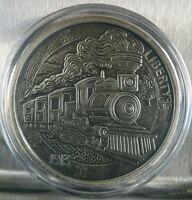 1 oz .999 Silver Antiqued Hobo Nickel COA Paolo Curcio buffalo Nickel The Train