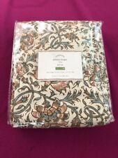 "Pottery Barn Linen/Cotton Pole Top Selena Drape - Floral 🔸️Size:""50 x 108"""