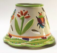 Yankee Candle Jar Shade and Plate Holder Tropical Paradise Debbie Mumm Design