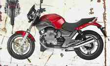 MotoGuzzi 750 Breva 2003 Aged Vintage SIGN A3 LARGE Retro