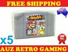 5x Thick GAME CART PROTECTORS Cases For N64 Nintendo 64 Games Cartridge
