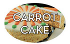 """Carrot Cake Labels 500 per Roll Food Merchandise Store Stickers 1.25"""" x 2"""""""