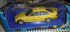 UT MODELS YELLOW BMW 3 SERIE COUPE 1:18 SCALE IN ORIGINAL BOX