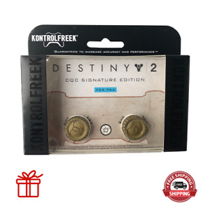 Kontrol Freek PS4 PS5 Controller Thumb Grips Destiny 2 CQC Edition Gold 2pc NEW