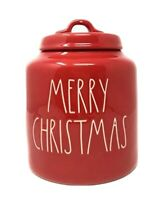 Rae Dunn by Magenta LL Merry Christmas Red Christmas Canister Large Letter