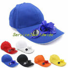 Summer Sport Outdoor Hat Cap with Solar Sun Power Cool Fan For Cycling BG