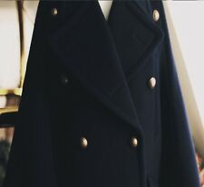 Wool Blend Double Faced Bell Cuff Black or Grey Cape Coat