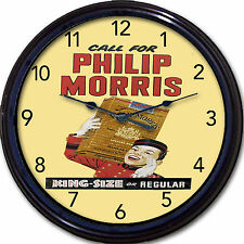 Call for Philip Morris Cigarettes Johnny Roventini Tobacco Wall Clock New 10""