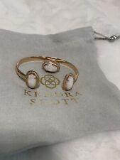 Kendra Scott White Kyocera Opal Erica Bracelet and Emmaline Ring Set Retired HTF