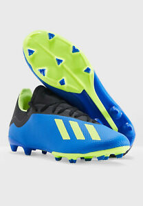 Mens Soccer Cleats ADIDAS X 18.3 FLEXIBLE GROUND CLEATS Blue Cleats NEW
