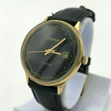 Vintage SLAVA Date USSR Mechanical Wristwatch SERVICED Soviet Men's Gold Plated