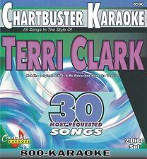 Chartbuster Karaoke 2 Disc Artist Series CD+G Set 8596 Terri Clark 30 Song cdg