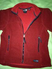 REI Polartec Brick Red Full Zip Fleece Jacket Womens S EUC