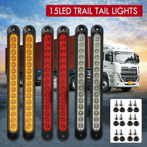 6X Tray Back Ute 15LED Trail Tail Lights For MAZDA TOYOTA ISUZU HILUX MITSUBIS