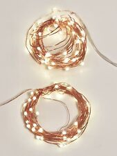 Set of 2, 5M Copper Wire 50 LED String Lights 3xAA Battery Operated Light