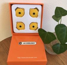 NUOVO in scatola Le Creuset Giappone rotonda Casseruola Pentola Clip/Pin Set di 4-Giallo
