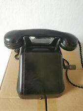 Altes Telefon Deutsche Post Saba 0B46 549 Mit Kurbel auf der rechten Seite Retro