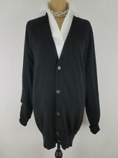 Gap Women Cardigan Sweater M Tall Black Wool Cashmere Vneck