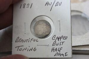 1831   AU/BU   TONING   CAPPED BUST HALF DIME