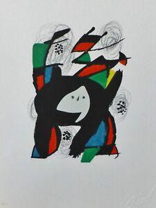 "Joan Miro ""La Melodie Acide"" 8 signed LITHOGRAPH 1980"