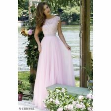 New baby pink prom/ bridesmaid dress size 12 with lace detailing RRP£120