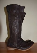 H By Hudson Dark Brown Knee High Leather Boots Size 41/ UK 8